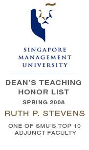 Dean's Teaching Honor List - Spring 2008 - Ruth P. Stevens